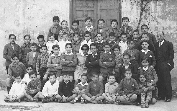 Don Félix con sus alumnos