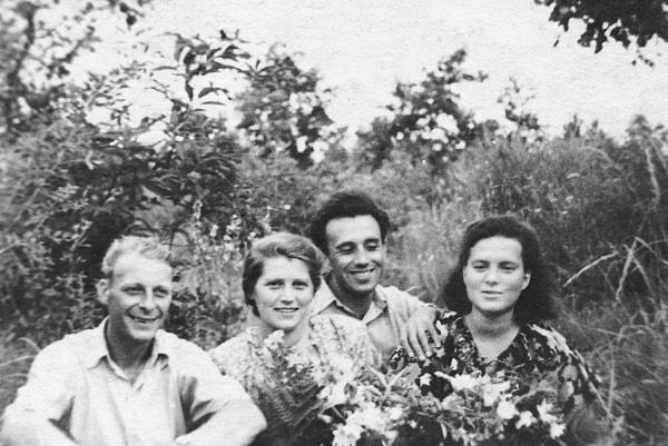 Nuestro amigo Mayeslav Satin con su esposa, el autor e Inna
