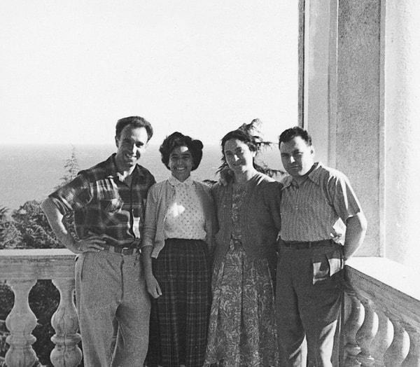 Artiom Serguéev, Amaya Ruiz Ibárruri, Irene Falcón y Virgilio de los Llanos Más