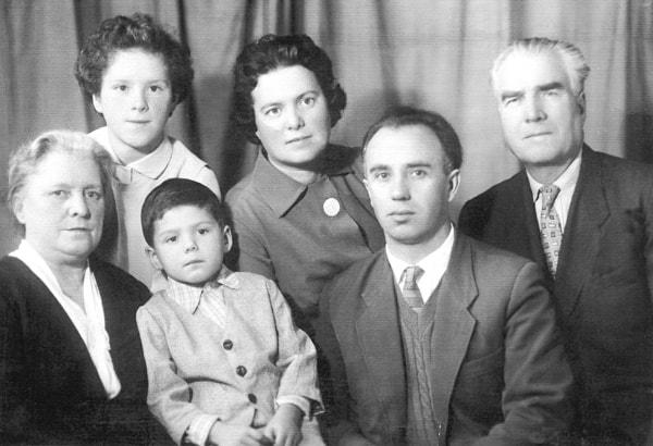 Una foto familiar antes de partir a Cuba